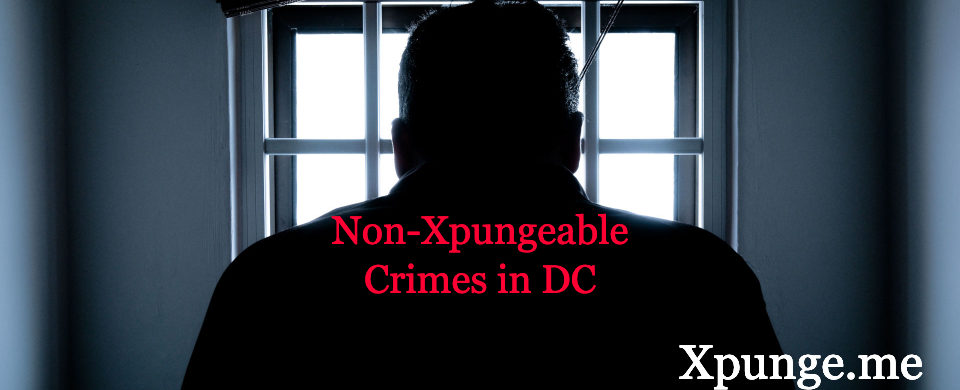 Non-expungeable Crimes in D.C.