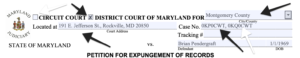 Maryland Expungement Form Completion Part 1