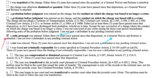 Maryland Expungement Form Tutorial Part 3