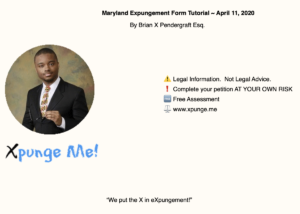 Maryland Expunge Form Tutorial - Introduction