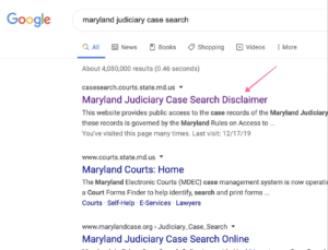 Google MD Case Search