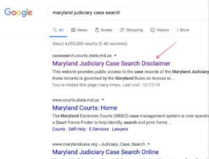Google MD Case Search